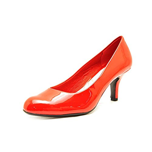 Easy Street Womens Passion Dress Pump Bright Red Patent