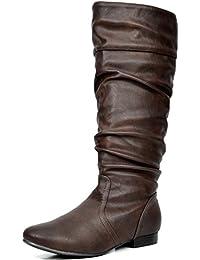 Dream pares Blvd de la mujer Moda Casual Pull On Slouchy Botas de caña alta (Wide Calf disponible)