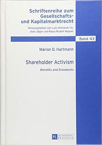 Amazon com: Shareholder Activism: Benefits and Drawbacks