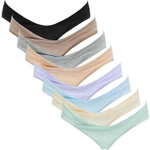 Suekaphin Womens Maternity Panties Maternity Underwear Pregnancy Postpartum Cotton Under Bump Brief,Sort C,Medium