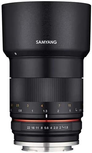 Black Samyang 85mm f/1.8 Manual Focus Lens for Canon EOS M Series ...