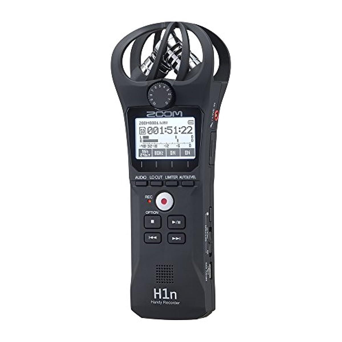 [해외] ZOOM 줌 핸디 레코더 블랙 90°XY방식의 스테레오 마이크 탑재 고음질 녹음 손바닥 사이즈 콤팩트 H1N