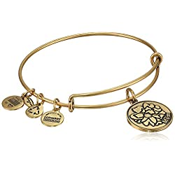 "Alex and Ani ""Because I Love You"" Expandable Wire Bangle Bracelet, 7.75"""