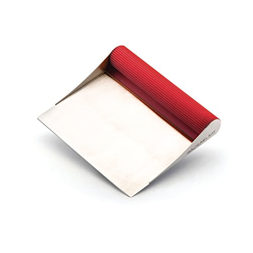 Rachael Ray Tools & Gadgets Stainless Steel Bench Scrape, Red