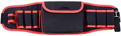 ツールバッグ ハードウェアバッグジッパー修理キットオーガナイザーパワーツールバッグ電気技師主催ウエストパック 工具収納便利 (Color : Red, Size : One size)