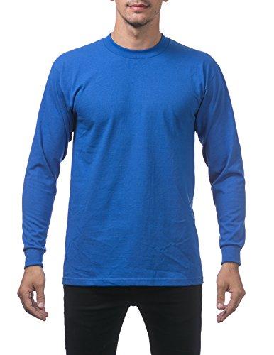 Big Brother Long Sleeve T-shirt - Pro Club Men's Heavyweight Cotton Long Sleeve Crew Neck T-Shirt, Large, Royal Blue