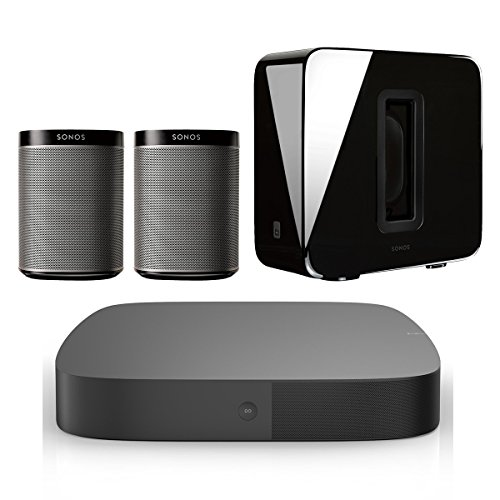 Sonos 5.1 Home Theater Digital Music System (PLAYBASE, SUB, PLAY:1) - Black (Sonos Surround)
