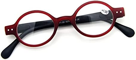 86965c39bb Amazon.com  Designer Small round Oval Vintage Spring Hinge Reading Glasses  Eyeglasses Readers (+2.00
