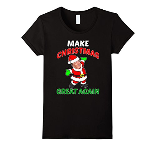 Womens FUNNY MAKE CHRISTMAS GREAT AGAIN T-SHIRT Donald Trump 2016 XL (Father Daughter Halloween Costumes 2016)