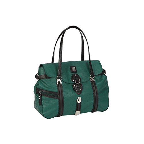 Shopper Large 39x35x19 Green Guidi For Pine Handles Woman Plastic Piero Bag AxFpSp5q