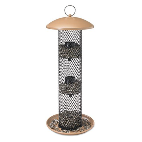 No/No Tan Straight Sided Sunflower Tube Feeder (Sunflower Seed Feeder)