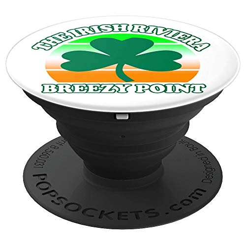 Breezy Point NY The Irish Riviera Shamrock Retro - PopSockets Grip and Stand for Phones and Tablets