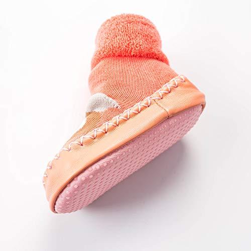 NUWFOR Newborn Baby Boys Girls Cartoon Cute Warm Floor Socks Anti-Slip Baby Step Socks(Pink,6-9Months by NUWFOR (Image #3)