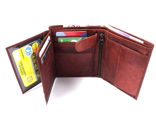 Genuine Mens Genuine Brown Wallet Mens Brown Leather fStpqUn