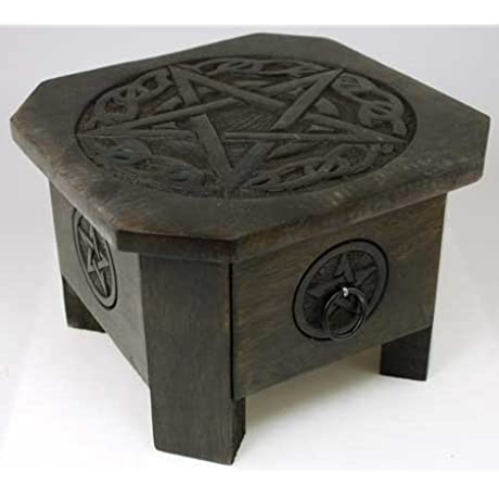 Celtic Pentacle Altar Table With Drawer 7 1 2