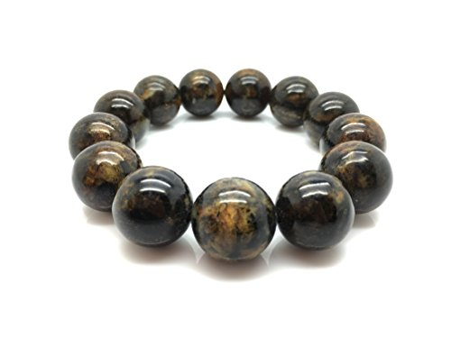 Natural Baltic Amber Bracelet Dark Marble Colour 41,9g, 18± mm size. by Mister Amber