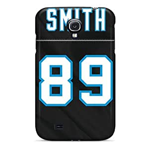 Defender Case With Nice Appearance (carolina Panthers) For Galaxy S4