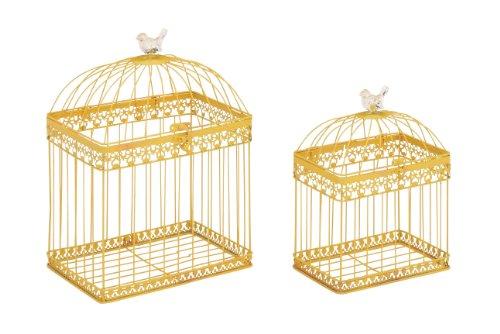 Deco 79 Metal Acrylic Bird Cage, 16-Inch/12-Inch, Set of 2
