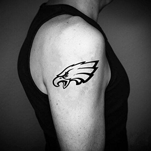 Philadelphia Eagles Temporary Fake Tattoo Sticker (Set of 2) - www.ohmytat.com -