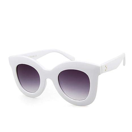 Yangjing-hl Gafas de Sol Mujer Espejo de Tendencia Europea y ...