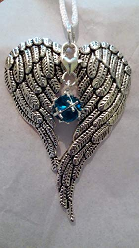 December Birthstone Angel Wings Memorial Ornament