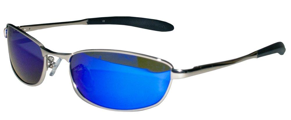 Polarized Aviator P27 Sunglasses by JiMarti (Silver & Blue Mirror)