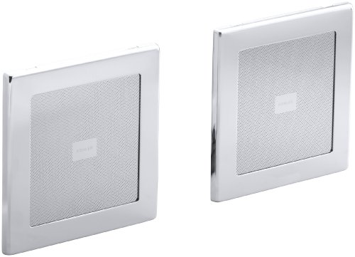 (KOHLER K-8033-CP Soundtile Speakers(Pair of Speakers), Polished Chrome )