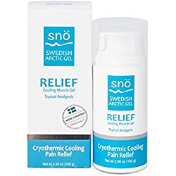Snö Pain Relief Cream COOLING Topical Analgesic 3.55 oz Natural Ingredients Menthol and Camphor Relieves Joints, Muscles, Inflammation - RELIEF FORMULA