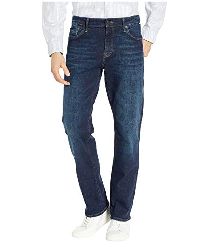 In Worn Jeans Mavi (Mavi Jeans Men's Matt Mid-Rise Relaxed Straight Leg in Ink Cashmere Ink Cashmere 36 34)