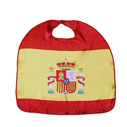 YHOUSE 2 Pcs World Cup 2018 Wearable Flag Cape Cloak, Soccer Fans Cape Costume for Sports(Spain) -