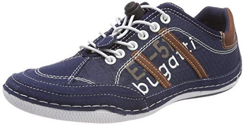 Bugatti Men's 321480065400 Trainers, Grey (Grey), 6 UK Blue (Dark Blue 4100)