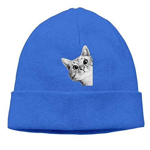QIANGXINGWANG Sneaky Cat Skull Cap Beanie That Will Fit Your Head Perfect Jumper