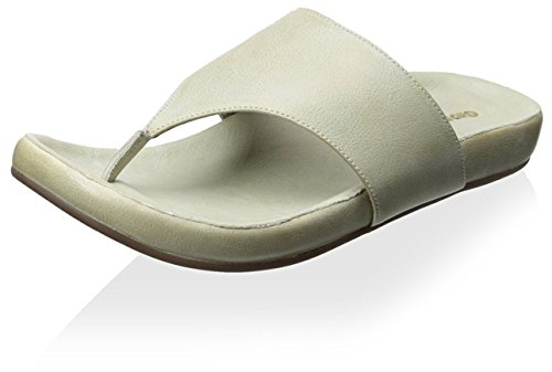 Chocolat Blu Women's Omega Sandal, Grey Leather, 39 M EU/9 M (Blu Thongs)