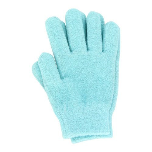Silipos Plush Terry Gel Moisturizing Gloves, One Size, Turquiose by Silipos