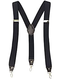 Mens Suspenders for Work 3 Swivel Hook Clips Y-back for Groomsmen 3.5cm Width