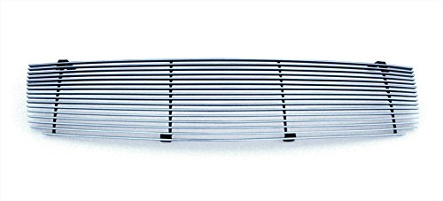 (MaxMate Fits 04-06 Nissan Maxima Replacement Upper 1PC Horizontal Billet Polished Aluminum Grille Grill Insert)
