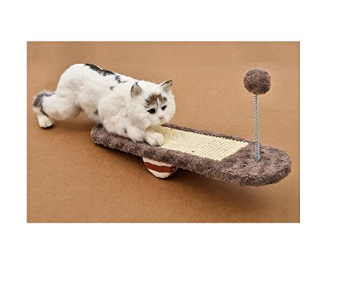 Xinjiener Vedere-visto Pet Cat Toys Cat Scratch Board Cat Grinding Claw Khaki