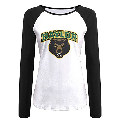 (Creamfly Womens Baylor Bears Long Sleeve Raglan Baseball Tshirt XXL)