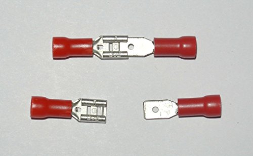 "Vinyl Insulated .187"" Female and Male Quick Disconnect 22-18"