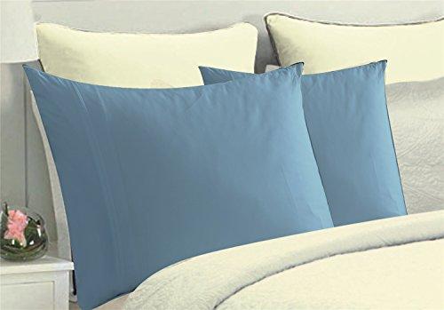 light blue pillow shams - 6