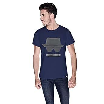 Creo Beach Hat Glasses T-Shirt For Men - M, Navy Blue