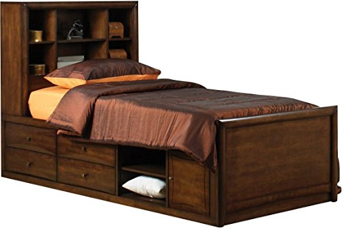 Coaster Home Furnishings 400280T Twin Chest Bed, Warm Brown ()