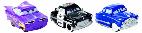 Cars Micro Drifters Doc Hudson, Sheriff and Ramone Toy Vehicle, 3-Pack (Micro Drifters Cars compare prices)
