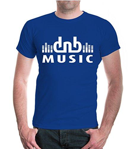 T-Shirt DnB Music-XXXL-Royal-White