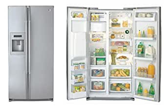 LG Side by Side Refrigerator LRSC26930TT 26 Cu. Ft. Glide'N Serve Pantry Drawer & Automatic tomCube Ice Maker: (Titanium)