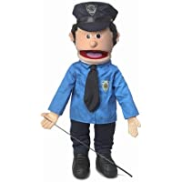 """25"""" Policeman, Peach Male, Full Body, Ventriloquist Style Puppet"""