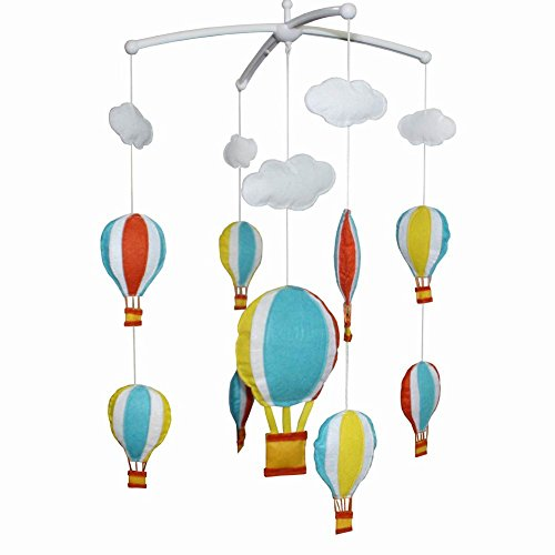 (Creative Crib Mobile Crib Decorations Cute Baby Mobile Baby Toy[Hot Air Balloon])