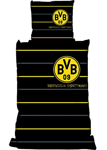 Borussia Dortmund Linon Bettwäsche Polostreifen Übergröße