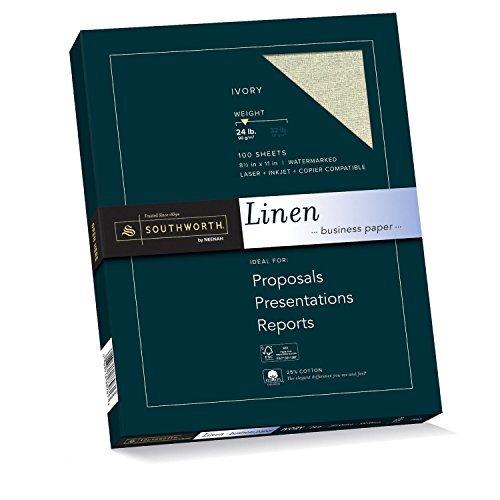 Southworth [並行輸入品] 25% Southworth Cotton Linen Business Paper 8.5 x 11 24 lb. Linen Finish White 100 Sheets (P564CK) [並行輸入品] B079KKPVM3, 韓グルメ:c38a3a34 --- ijpba.info