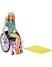 Barbie GRB93 - Barbie Fashionistas-docka med Rullstol och Långt Blont Hår, för Barn från 3 år